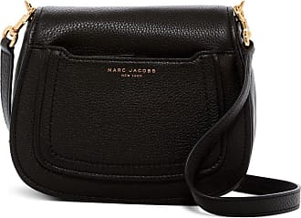 Marc Jacobs Empire City Mini Messenger Leather Crossbody Bag (Black), Small