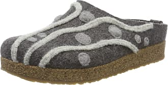 Haflinger Womens Grizzly Helena Open Back Slippers, Grey (Anthrazit 4), 7.5 UK