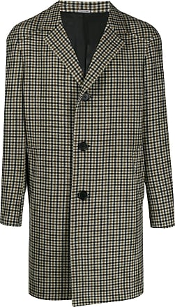 Lanvin single-breasted check coat - Brown