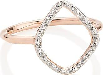 Monica Vinader Riva Diamond Hoop ring - PINK