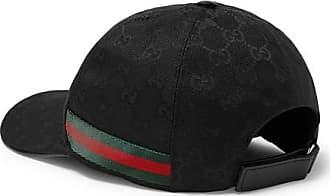 bc82604e Gucci Webbing-trimmed Monogrammed Canvas Baseball Cap - Black