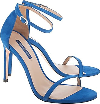 NEU HIGH HEELS Sandalette Blau Weiss Gestreift Rot Absatz 39