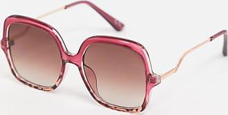 Asos Occhiali da sole quadrati oversize anni 70 rosa sfumato con dettaglio sulle stanghette