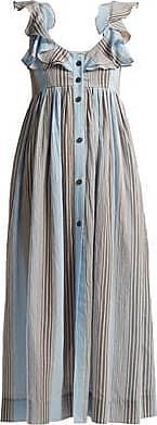 Three Graces London Beatrice Dress in Marari Stripe