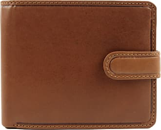 Visconti Mens VICENZA ITALIAN Leather Wallet in TAN by VISCONTI Gift Boxed With Tab