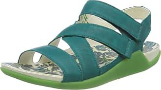 Think Womens 686536_sandaal Sling Back Sandals, Blue (Opal/Kombi 81), 7.5 UK