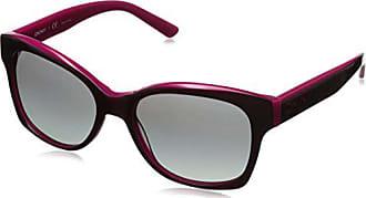 90562624ee DKNY 0dy4132 - Gafa de sol cuadrada color rosa burdeos con lentes color  gris degradadas