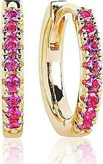 Sif Jakobs Jewellery Earrings Ellera medio - 18k gold plated with red zirconia
