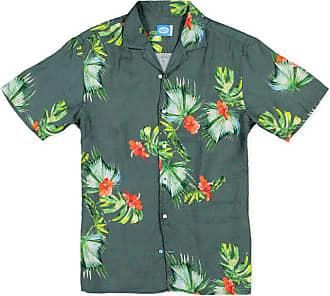 Panareha HONOLULU Hawaiian Linen Aloha Shirt green