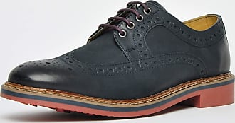 Ikon Classic Barley Leather Brogue Mens Navy