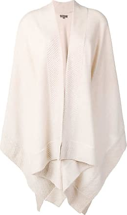 N.Peal knitted cashmere cape - Neutrals
