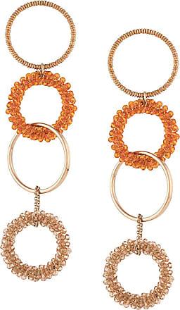 Jacquemus linked hoop drop earrings - Dourado