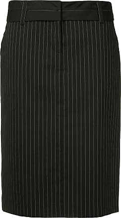 We11done straight pinstripe skirt - Black