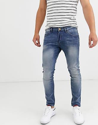 Wrangler Bryson - Jeans skinny con fibre trasversali-Blu