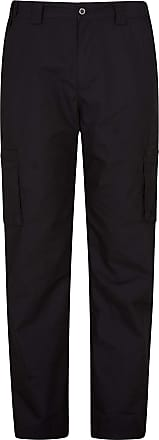 Mountain Warehouse Winter Trek Stretch Trouser - Lightweight, Durable, 4 Way Stretch, Pockets, Thermal Lined Bottoms - for Winter Travelling, Walking & Camping Black 42W