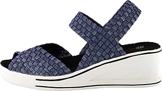 bernie mev. Womens Lux Garden Sandal (Jeans Shimmer, 4)