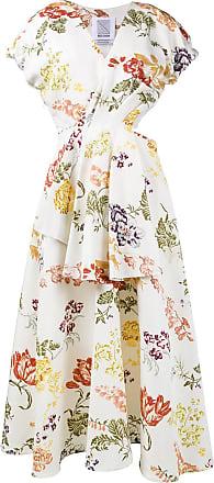Rosie Assoulin Vestido floral - Branco