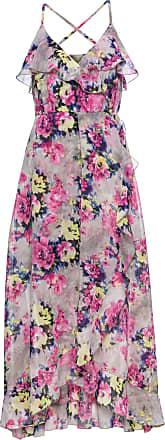 3256bce6845b BODYFLIRT boutique Dam Blommönstrad klänning i grå utan ärm - BODYFLIRT  boutique