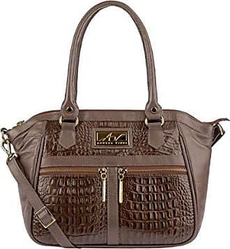 Andrea Vinci Bolsa de couro feminina Lucy chocolate
