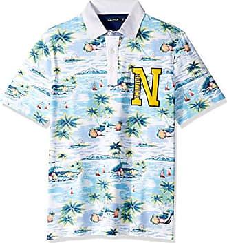 8edca17bc5 Nautica Mens Big and Tall Short Sleeve Aloha Island Print 100% Cotton Polo  Shirt,