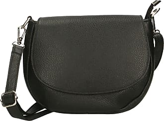 Chicca Borse Aren - Womans crossbody clutch shoulder strap in genuine leather made in italy - 23x18x7 Cm