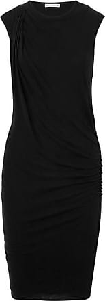 James Perse Nomad Draped Cotton-jersey Dress - Black