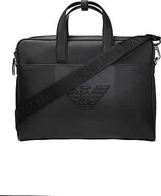 Emporio Armani Branded Briefcase Mens Black