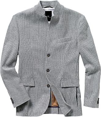 Herren Strick-Sakko mit Wolle Regular Fit Reverskragen Größe 46