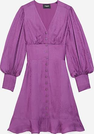 The Kooples Short purple dress with snakeskin motif - WOMEN