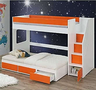 ACME ACME Furniture 37460 Lawson Loft Bed with Storage Ladder White and Orange