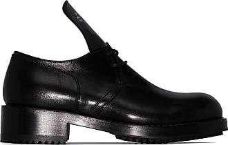 Raf Simons Sapato Derby preto de couro com cadarço