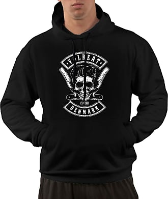 Not Applicable Clothing Mens Long Sleeve Hoodies Volbeat Pullover Hooded Sweatshirt with Pockets Black