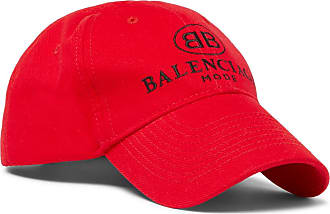 Balenciaga Logo-embroidered Cotton Baseball Cap - Red