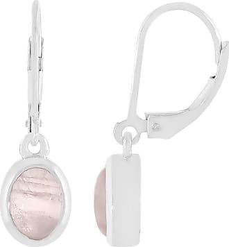 Juwelo Rosenquarz Ohrringe Silber Quarz Schmuck Quarz Pink