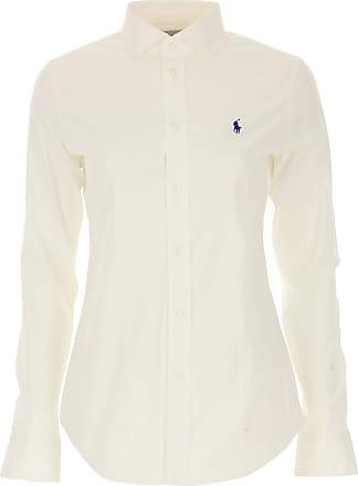Ralph Lauren Chemise Femme Pas cher en Soldes Outlet, Blanc, Coton, 2017, 0f200375b506