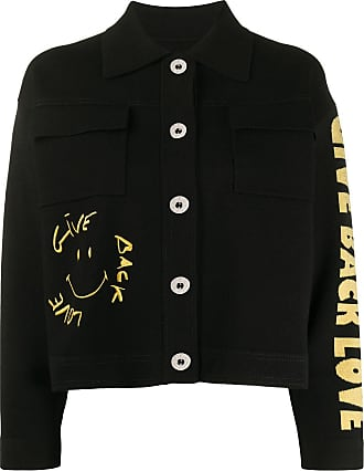 Sandro embroidered knitted jacket - Black