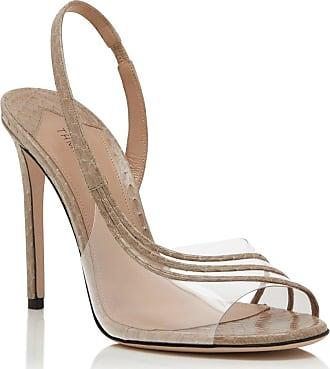 Tamara Mellon Corbu Beige Pvc/Elaphe Sandals, Size - 35.5