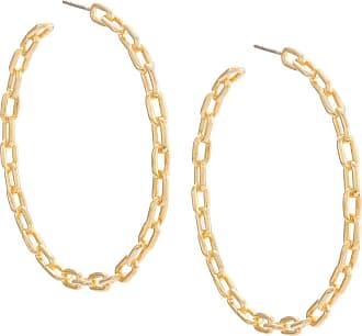 Jack Vartanian Par de brincos Chain G prata com banho ouro 18k - Dourado