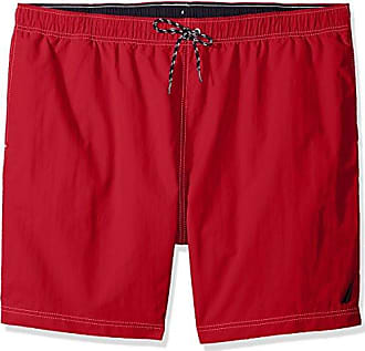 bfa8bcc990b606 Nautica Mens Tall Solid Quick Dry Classic Logo Swim Trunk, red, 4X Big