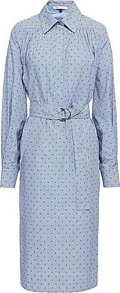 162e1f4d2a3 Maje Maje Woman Relino Striped Fil Coupé Cotton-poplin Shirt Dress Light  Blue Size 1