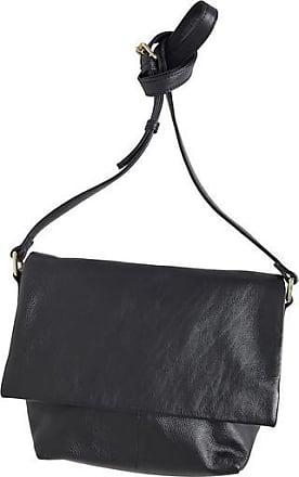 Ichi Schwarze Leder Crossbody Handtasche - Black