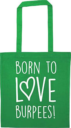 Flox Creative Green Tote Bag Born to Love Burpees