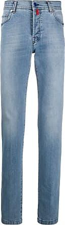 Kiton mid-rise skinny jeans - Blue