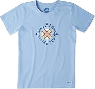 Life is good Womens Sun Compass Crusher Tee XXXL Powder Blue