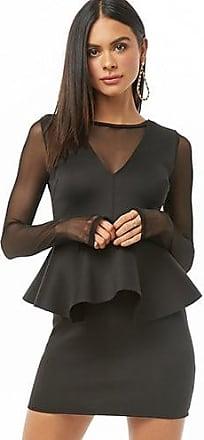 Forever 21 Forever 21 Illusion Peplum Dress Black
