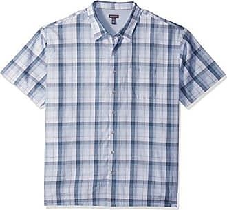 Van Heusen Mens Big and Tall Air Short Sleeve Button Down Check Shirt, Low Tide, 3X-Large