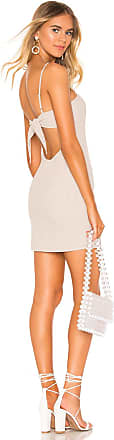 Superdown Lacy Tie Back Dress in Tan