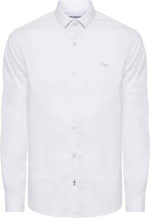 Calvin Klein CAMISA MASCULINA CKJ REGULAR PAPER - BRANCO