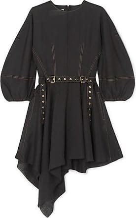 Marques Almeida Belted Linen Dress - Black