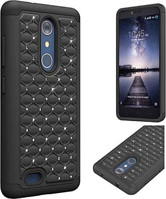 Mundaze Mundaze Black Diamond Double Layered Case for ZTE ZMax PRO Z981